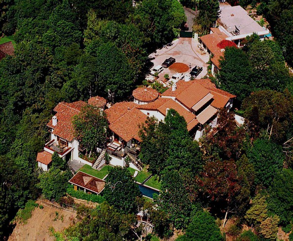Kevin Costner mansion in Hollywood Hills
