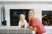 Kate Townsend Simpson with daughter Ellie in their Connecticut home