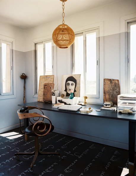 Eclectic Moroccan Work Space - Home Office Design Ideas - Lonny