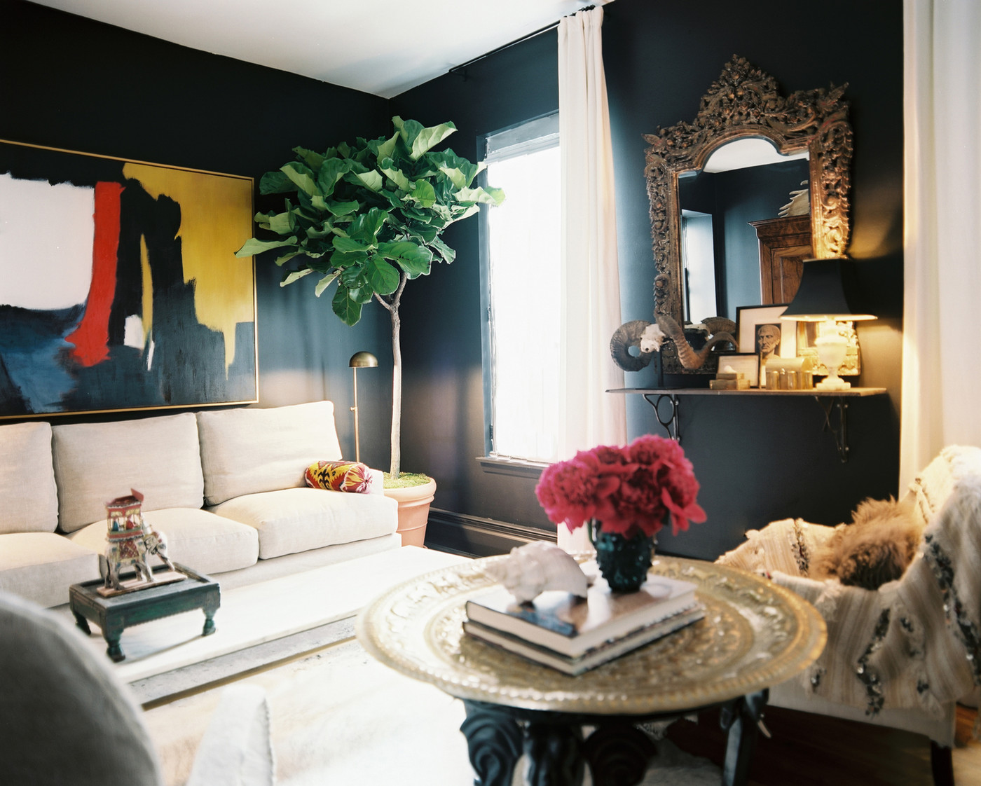 How To Decorate With Dark Walls Lonny