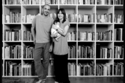 Laurent Girard and Leonora Mahle in their Manhattan home