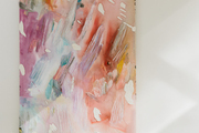 A colorful abstract painting.