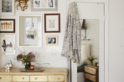 A gallery wall in the apartment of Elisa Marshall and Benjamin Sormonte