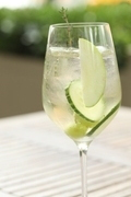A cucumber-infused drink at The Thomas restaurant in downtown Napa