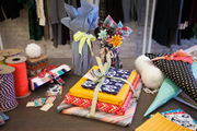 Creatively wrapped gifts at Thomas Sires