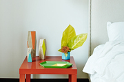A bedside table in Jordana Brewster's New York home