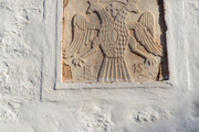 A stone carving in Hydra, Greece