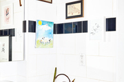 A modern and quirky bathroom.