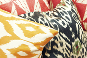 A mix of patterns on a daybed
