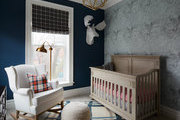Traditional furniture in eclectic contemporary kids room.