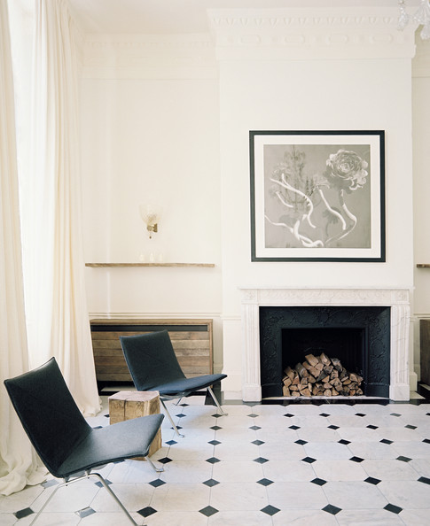 Exceptional Sitting Room Ideas With Fireplace #6: Black+White+Tile+palette+black+white+sitting+c2Oe_wuDve0l.jpg