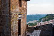 Views from the exterior of a Civita di Bagnoregio residence