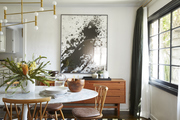 This is a snapshot of a modern dining space in the home of Emily Current.