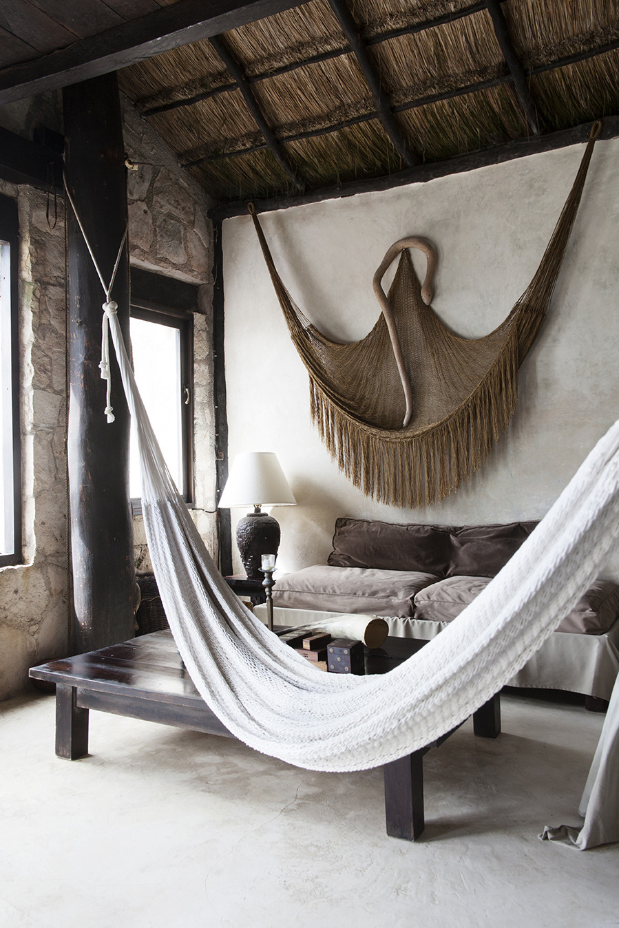 Wish we were here coqui coqui tulum monday design for Living room hammock