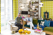 Style icons Simon Doonan (left) and Jonathan Adler in their eclectic den