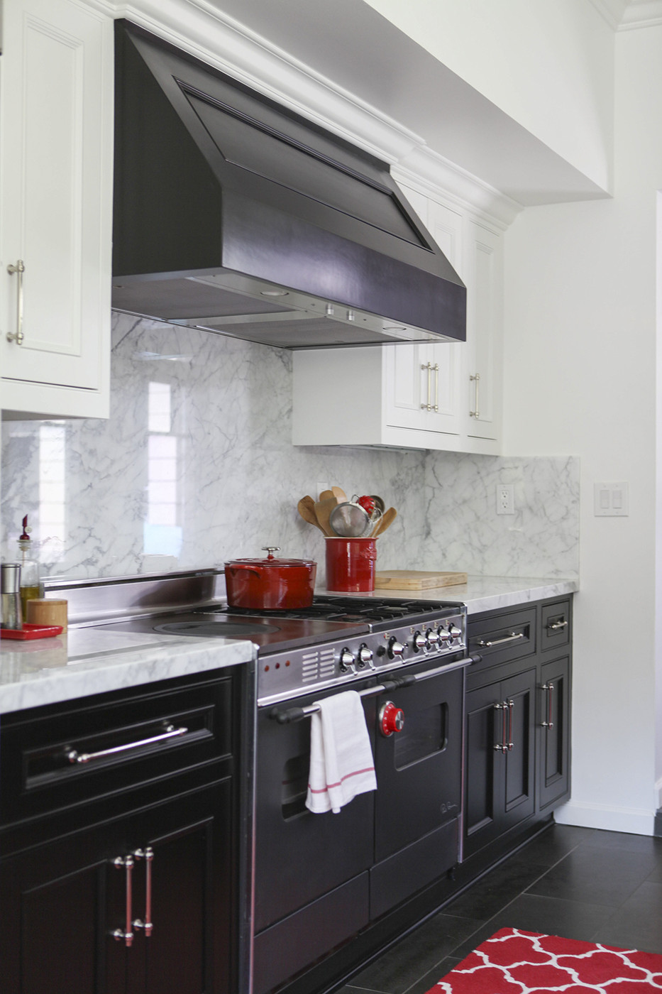 grey lower cabinets white upper
