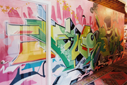 Colorful graffiti art at Furbish Studio