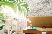 Eclectic Tropical Wall Treatment
