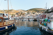 The port at Hydra, Greece