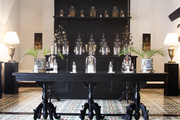 The lobby and perfumery of hotel Coqui Coqui in Valladolid, Mexico.