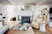 A mix of textures in an open living space