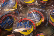 Guests took home a Moon Pie as a gift at Sam Masters Fat Tuesday Party