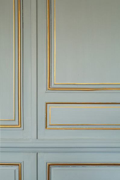 wall decal trim gilded molding blue walls with gilded molding - Decorative Wall Molding Designs