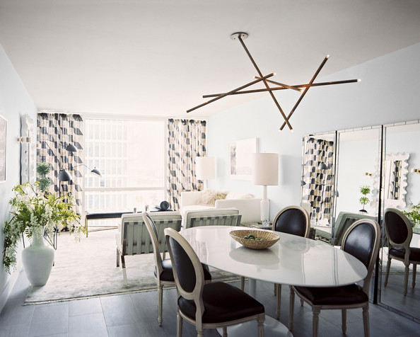 Modern Ceiling Light Fixture Photos (1 Of 3). Midcentury Minimalist Modern Dining  Room