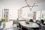 An open living-dining space