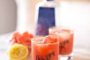 A detail of watermelon cocktails.
