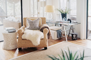 An abundant mix of textures in a neutral living space