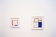 Piet Mondrain, Composition with Yellow, Blue and Blue-White, 1927 and Composition with Yellow, Red and Blue, 1927