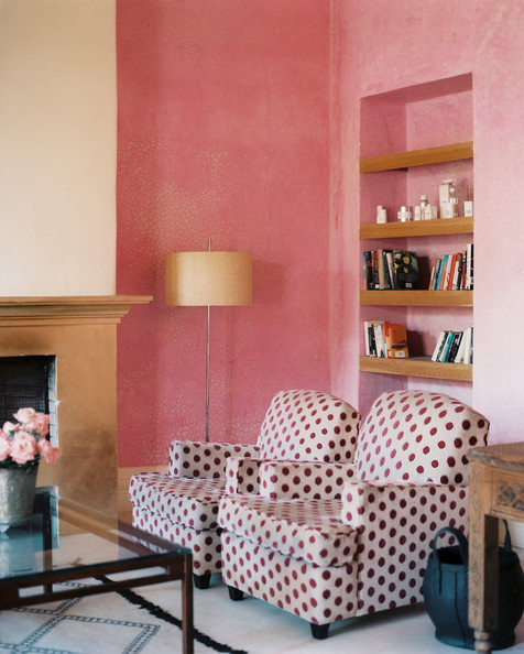Pink Accent Wall Photos, Design, Ideas, Remodel, and Decor - Lonny