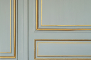 Blue walls with gilded molding