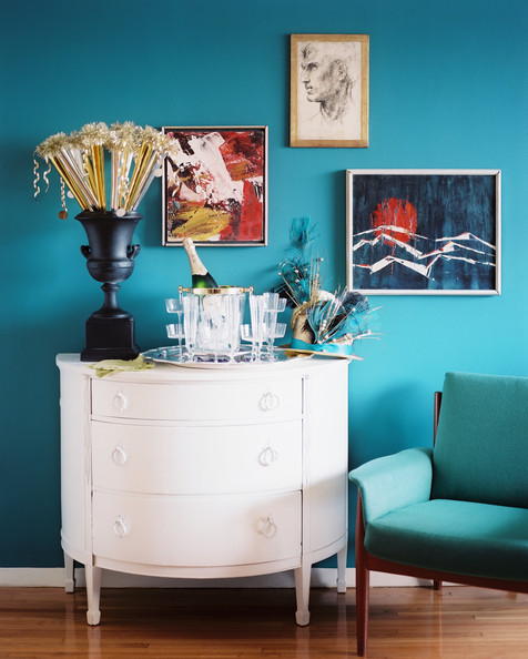 Eclectic dining room photos 115 of 172 - Salon bleu turquoise ...