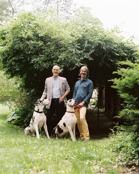 Landscaping - John Dransfield and Geoffrey Ross at their New Jersey home