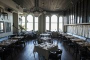 The evocative dining room at The Thomas restaurant in downtown Napa