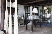 The perfumery in the lobby at Coqui Coqui in Tulum, Mexico.