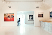 A minimalist contemporary art gallery space
