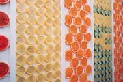 Walls adorned with citrus slices