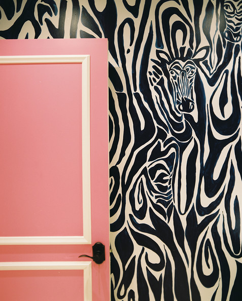 Zebra Wallpaper For Bedrooms Pink Zebra Wallpaper F...