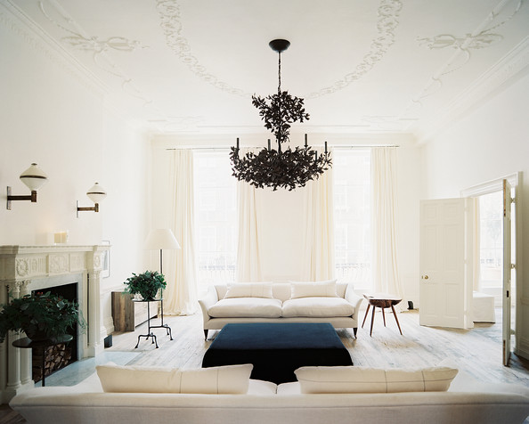 colonial living room photos 8 of 17 - Contemporary Chandeliers For Living Room
