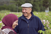 Farm owner Joseph Mul and one of his workers in the field