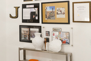 Framed press mentions at Buckingham Interiors + Design
