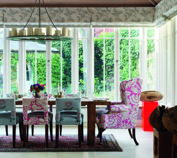Eclectic Dining Rooms Roman Shades Photos Design Ideas Remodel And Decor Lonny