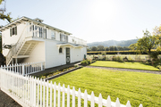 A white Victorian guest house in the Napa Valley