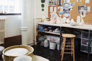 A pottery work space