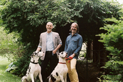 John Dransfield and Geoffrey Ross at their New Jersey home
