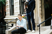 Ari Heckman and Ethan Feirstein outside their West Village home