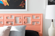 Detail of a coral headboard.